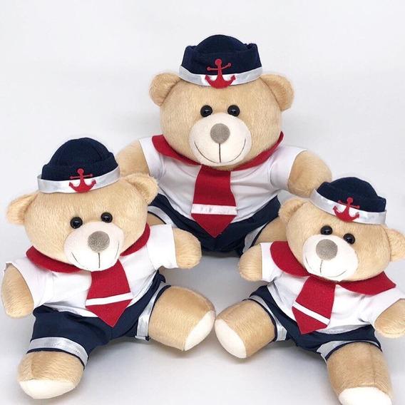 Trio De Ursinho Para Nicho Quarto Bebe Marinheiro Branco