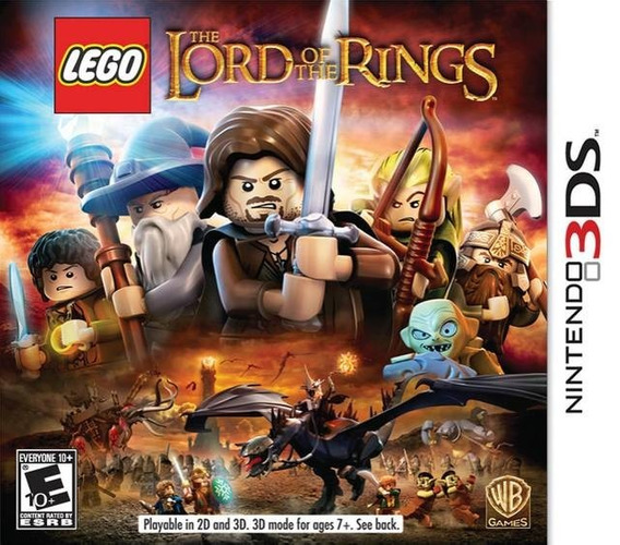 Jogo Lego Lord Of The Rings Nintendo 3ds Game Mídia Física