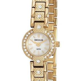 Relógio Feminino Seculus Dourado Small Size 23592lpsvda1