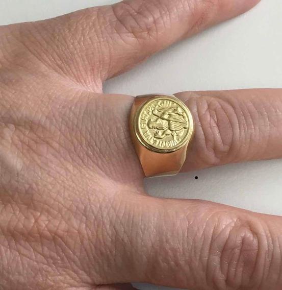 Anel Ouro 18 Kl São Bento 6 Gramas Número: 24.
