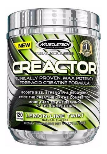 Creatina Muscletech Creactor (120 Srsv) Varios Sabores!