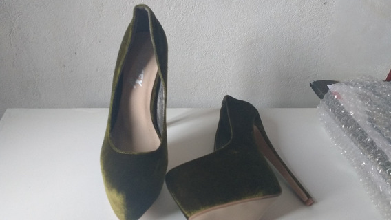 Lindo Sapato. Camurça Verde