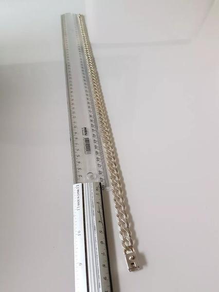 Corrente Prata 925 Maciça 59cm 12mm 69,6 Gramas