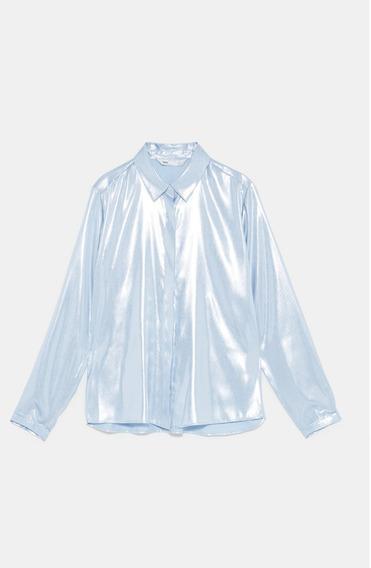 Camisa Metalizada - Zara