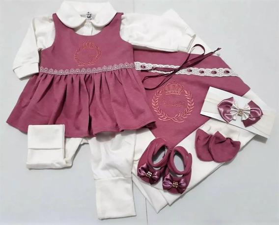 Saída Maternidade 6 Peças 100% Algodão Menina Promoção