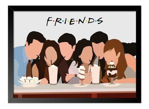 Imagem 1 de 1 de Quadro Poster Seriado Friends Milk Shake 33x23cm