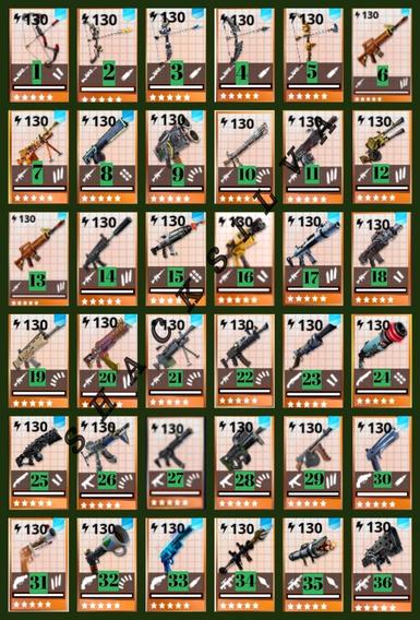 Armas 130 Full Perks Fortnite Salvar El Mundo 2 Unidades