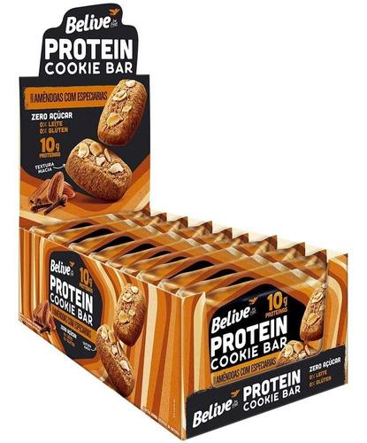 Imagem 1 de 6 de Protein Cookie Bar Amêndoas Especiarias Belive 10x48g