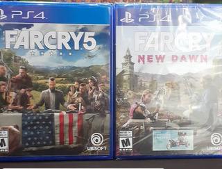 Far Cry 5 Y New Dawn Físico Nuevo Ps4