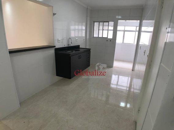 Apartamento Com 2 Dormitórios À Venda, 95 M² Por R$ 350.000,00 - Ponta Da Praia - Santos/sp - Ap0472