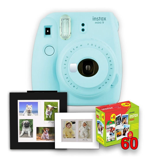 Câmera Instax Mini 9+ 02 Porta Retrato + 60 Fotos