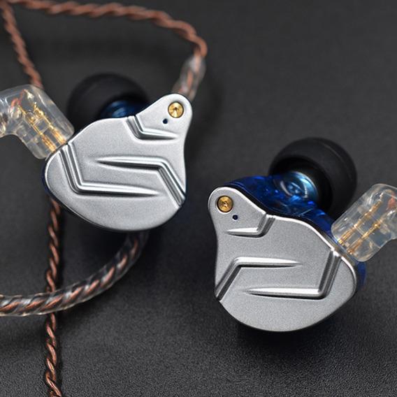 Kz Zsn Pro Fones De Ouvido Com Fio De 3,5mm Com Controle In-