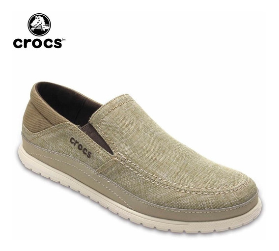 Crocs Originales Santa Cruz Playa Slip-on Marrón Khaki