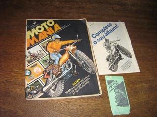 Album De Figurinhas Moto Mania 1977 Comp + Envelope Saraiva