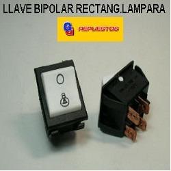 Llave Bipolar Rectang. Lampara