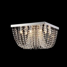 Lustre De Cristal Seine Blumenau Prata/transparente Hbwt