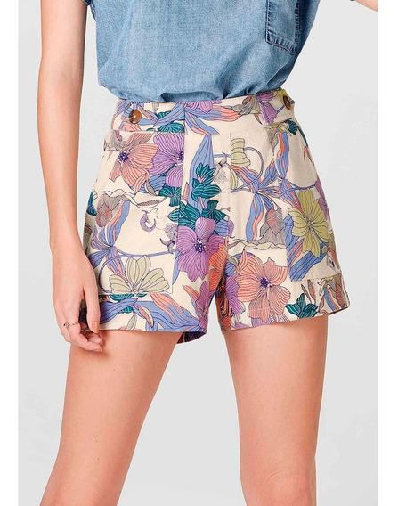 Shorts Feminino Com Detalhe De Botões Hering