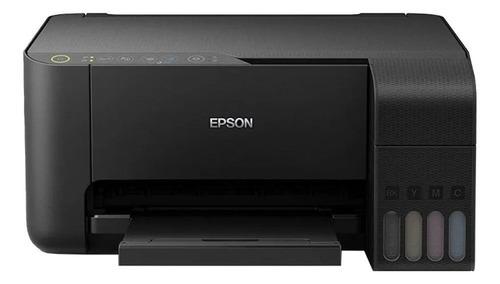 Imagem 1 de 5 de Impressora a cor multifuncional Epson EcoTank L3150 com wifi preta 110V
