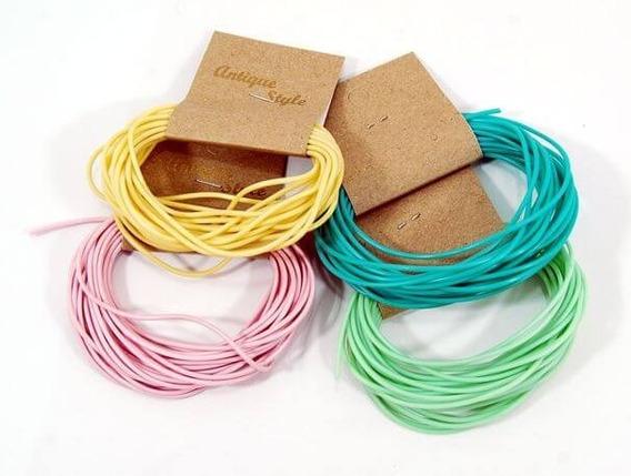 Cordón De Silicona Elección De Colores- Para Bijou - X 5 Mts