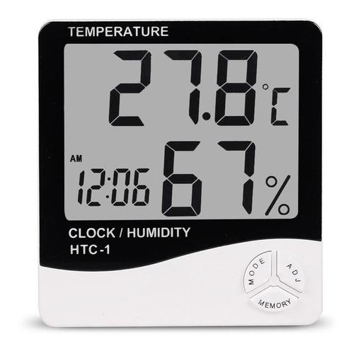 Medidor Higrometro Digital Termometro Humedad Interior Reloj Mercado Libre 1x aaa 1,5 v ( incluida). medidor higrometro digital termometro humedad interior reloj