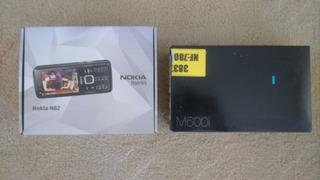 Nokia N82 + Sony Ericsson M600i - Completo Com Caixa, Manual