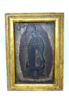 Pintura Antigua La Virgen De Guadalupe Oleo Sobre Tela Xviii