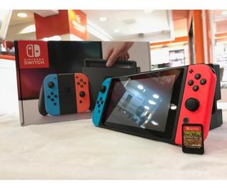 Nintendo Switch 2019 Mas 4 Juegos Mas Estuche