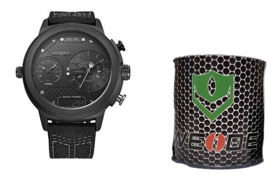 Relógio Masculino Original Anadigi Weide 6405 Preto