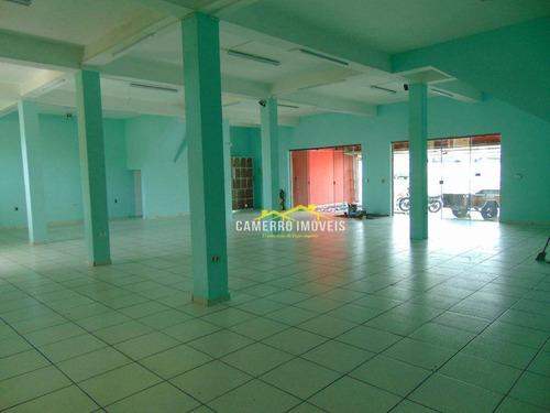 Salão Para Alugar, 200 M² Por R$ 2.800,00/mês - Parque Liberdade - Americana/sp - Sl0385