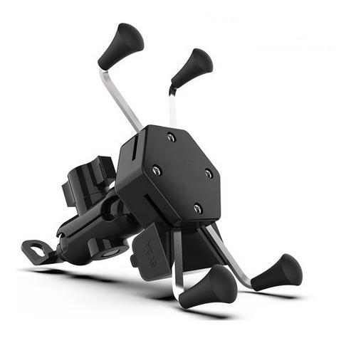 Imagem 1 de 10 de Suporte Celular Moto Carregador Usb Garra X Knup Kp-sp009