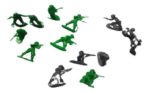 Set Combate Soldados Plastico Con 20 Soldados Dc272