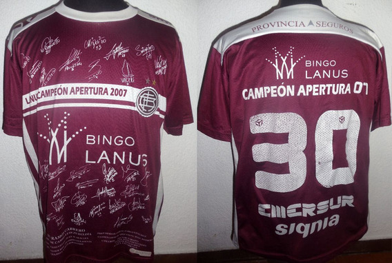 Camiseta De Lanus Signia Campeon 2007 #30 Talle L !!!