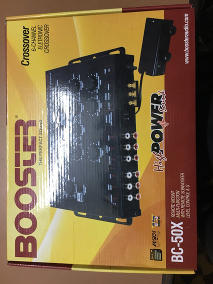 Crossover Bc-50x Booster Controle Subwoofer