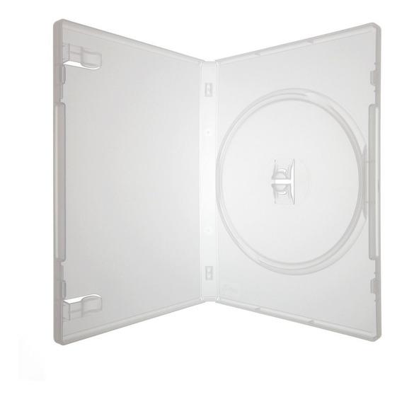 50 Estojo Caixa Capas Box Dvd Transparente Pack Filme Jogos