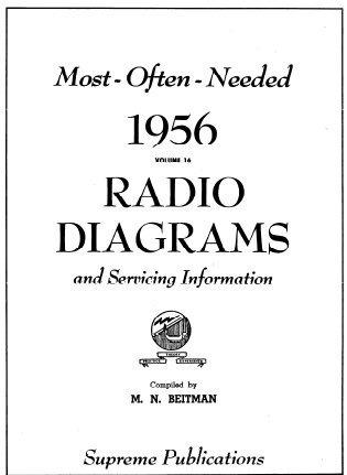 Esquema Elétrico De Rádio Antigo De 1956 Vintage