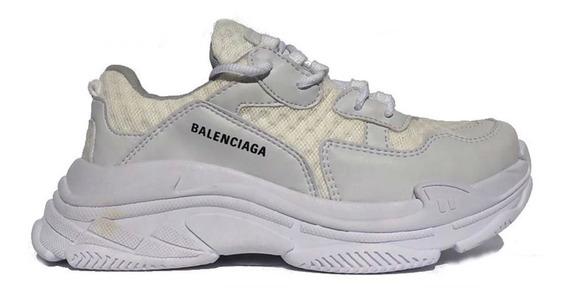 Tenis Balenciaga Triple-s Lançamento 2019 - Full White
