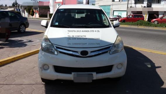Toyota Avanza 2013 Std 4 Cil 1.5 Lts 7 Pasagero Eng $ 27,000