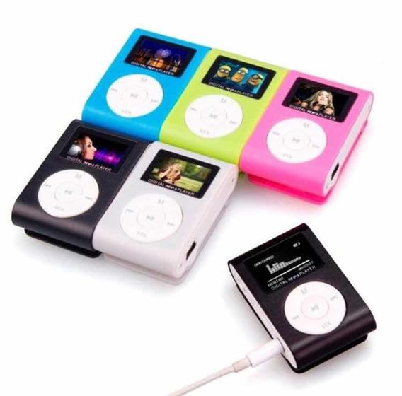 Mp3 Player Lcd Mini Fm Leitor Sd Catão De Memória Shuffle