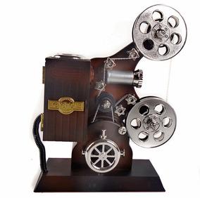 Projetor De Cinema Antigo Caixinha De Música A Corda