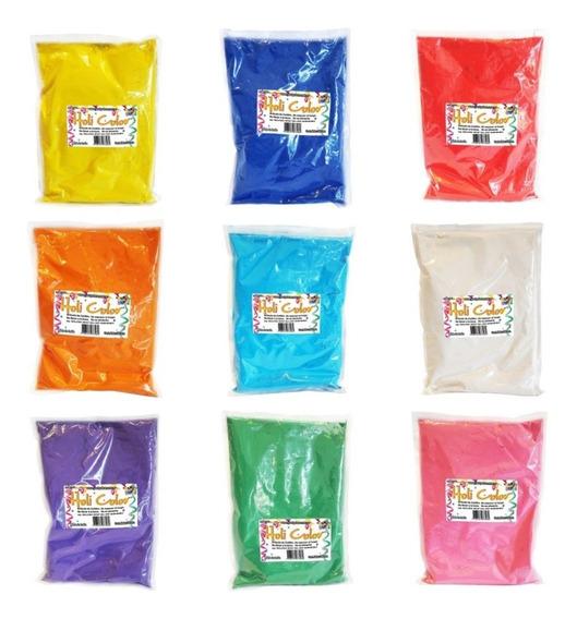 Holi Color Polvo Colores Varios X Unidad 500 Grs Cotillon