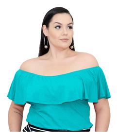 Roupa Feminina Bata Cigana Com Babado Plus Size +56