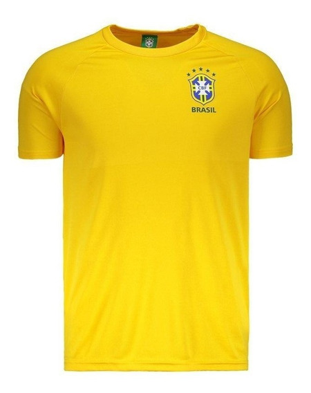 Camisa Dry Fit Brasil Cbf Spr Amarelo Cbf21001