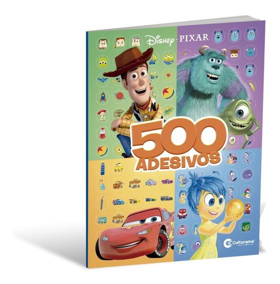 Livro 500 Adesivos Disney Pixar Culturama