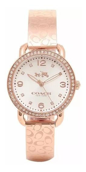 Reloj Coach Delancey Signature Rose Gold Tone Bracelet 28mm