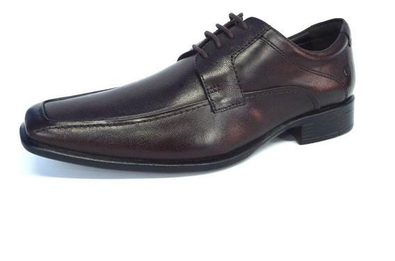 Sapato Masculino Democrata Preto Couro De Amarrar - 430025