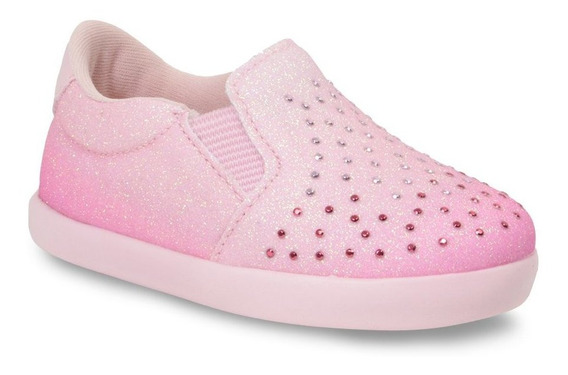 Tênis Menina Slip On Infantil Pampili Brilho 108121