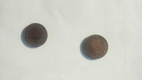 Moneda 1/10 1822 Y 1/10 1823 Se Venden Las Dos 11000