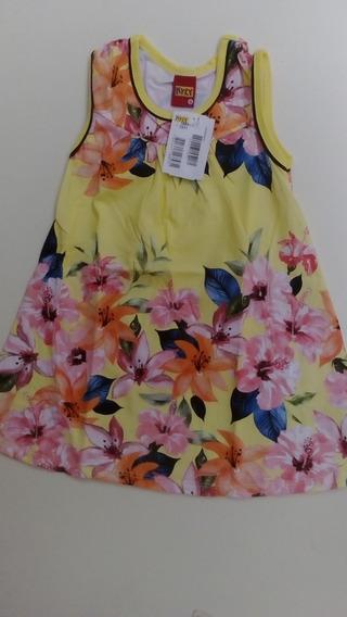 Vestido Infantil Kyly Cavado M/malha 108817