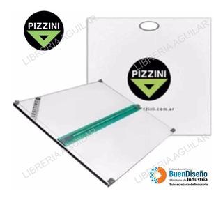 Tablero 50x60 Pizzini De Dibujo Tecnico Con Paralela Bolsa