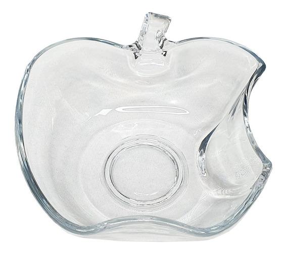 Ensaladera Bowl Manzana Apple Vidrio 19cm